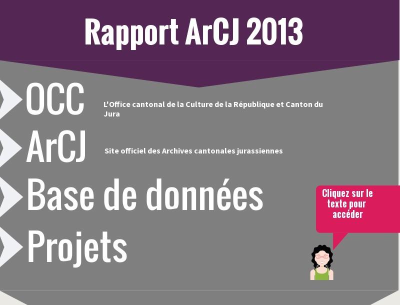 Infographie Rapport ArCJ 2013