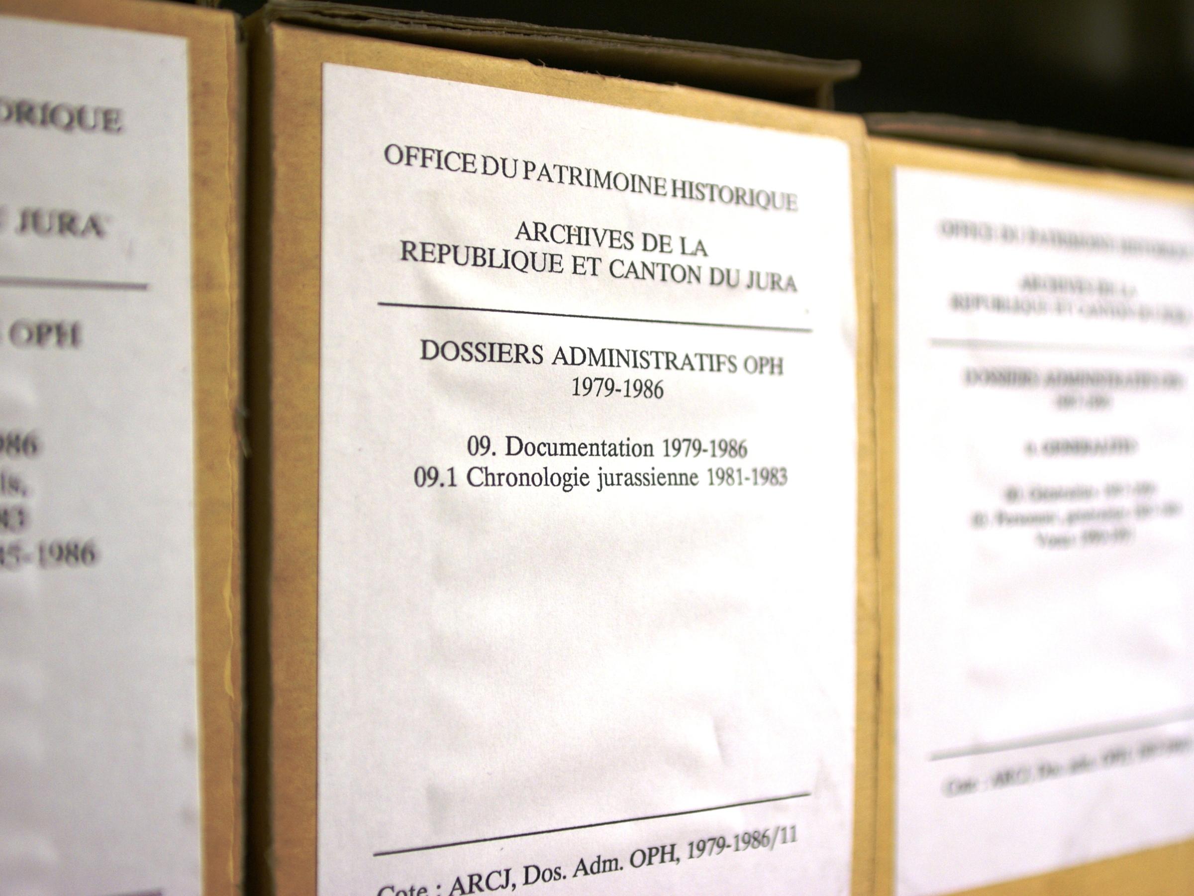 Archives de l'Office du Patrimoine historique (OPH) aujourd'hui Office de la Culture (OCC)