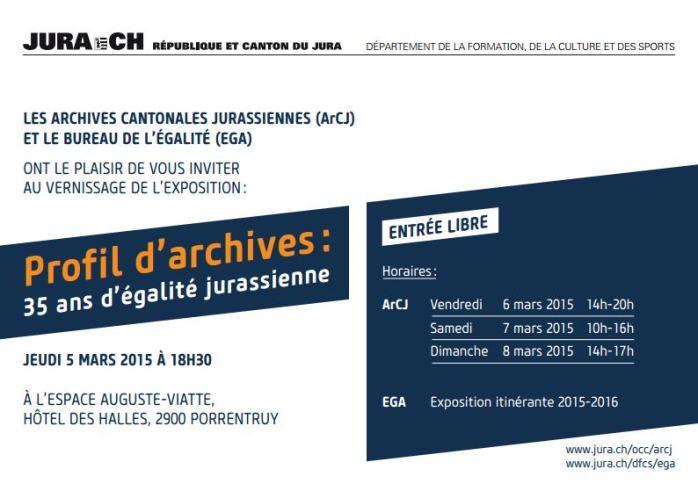 Flyer Profil d'archives: 35 ans d'égalité, infos supplémentaires